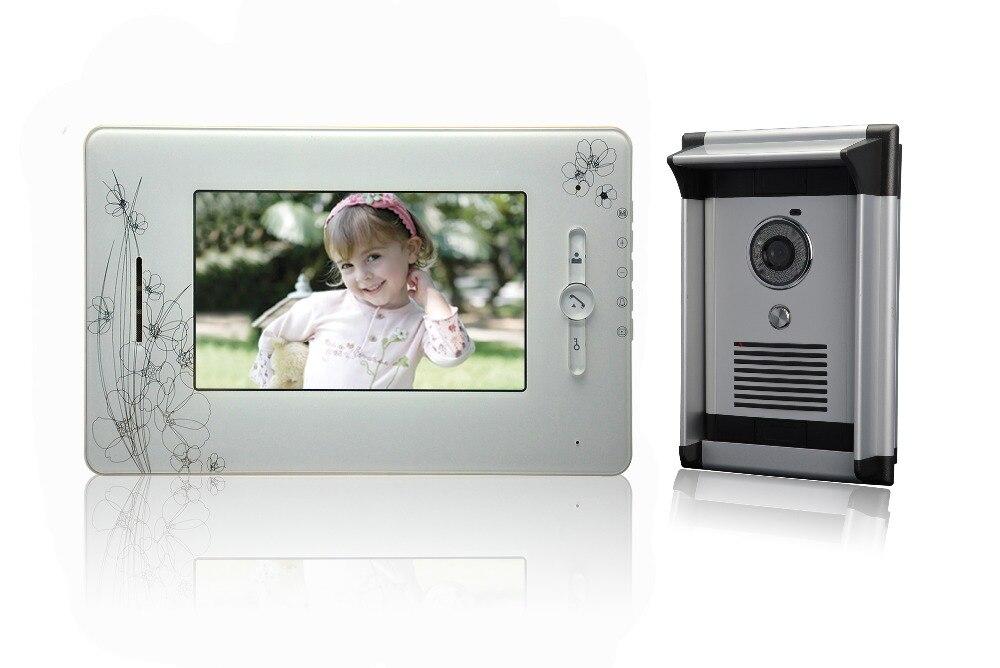 7 Inch LCD Display 600TVL IR Night Vision  Intercom Video Door Phone 7 Inch LCD Display 600TVL IR Night Vision  Intercom Video Door Phone