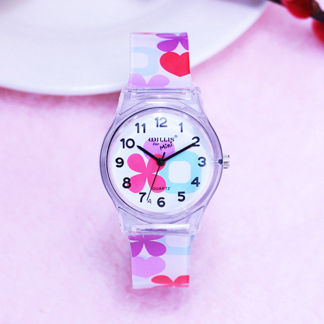 WILLIS Fashion Women Watches Lips Bracelet Jelly Strap Watch Hot Sale Ladies Qua