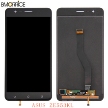 LCD Display For ASUS ZenFone 3 Zoom ZE553KL ZE553 Z01HDA LCD Screen Display Touch Panel Digitizer Black White Gold With Frame все цены