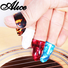 Alice Finger Thumb Guitar Picks Plectrums Celluloid Guitar Thumb Pick Plectrum Mediator Color Random Guitar Parts Accessories цены онлайн