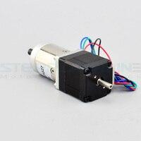 27:1 caja de Cambios Planetaria Nema 11 Stepper Motor Dual Shaft 0.67A $ number hilos DIY Robot
