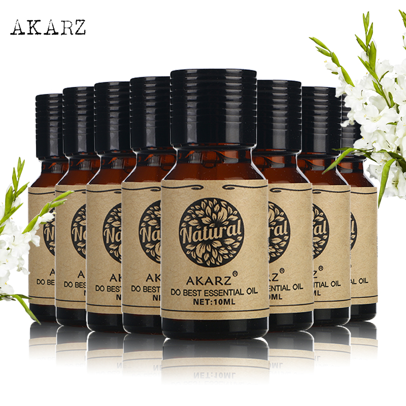 AKARZ Famous brand value meals Rose Peppermint Patchouli Jasmine Lavender Sandalwood Tea tree Lotus essential Oils 10ml*8 l a bruket 197 patchouli peppermint крем для ног 197 patchouli peppermint крем для ног