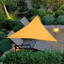 УФ-защита треугольный тент навес водонепроницаемый высокий пончо уличная мебель синий зеленый тент