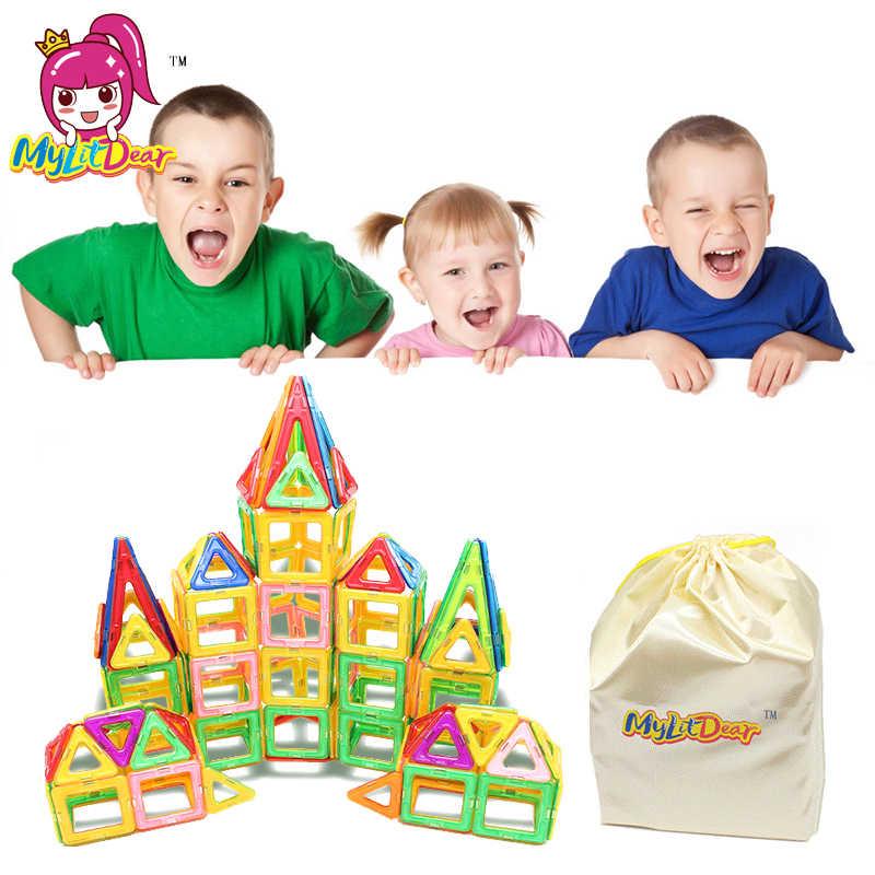103 шт. большой размер Магнитный дизайнерский Строительный набор модель и строительные игрушки пластиковые магнитные игрушки развивающие игрушки для детей подарок