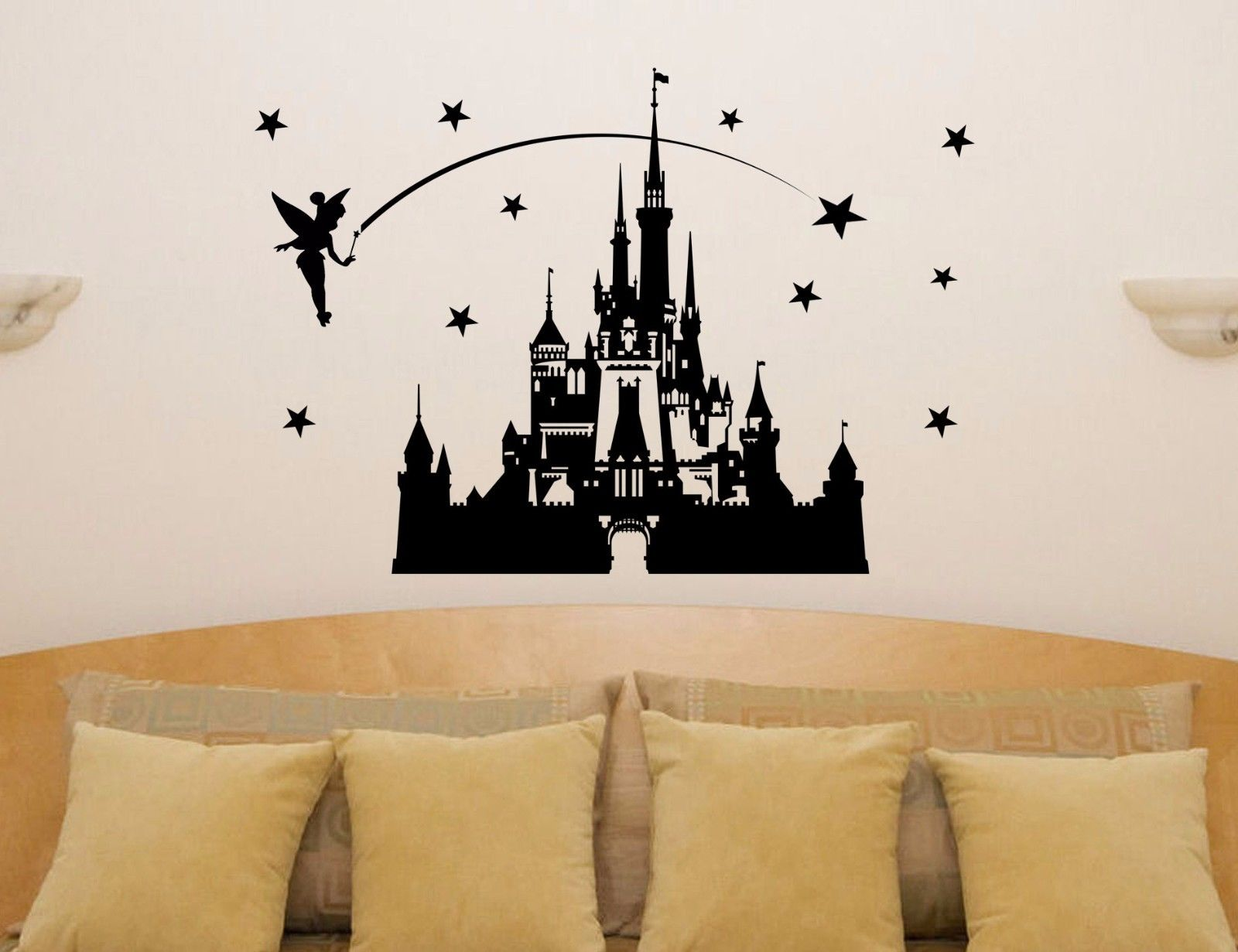 Karton Castle Fairytale Princess Tinkerbell Wall Art Decal Sticker - Indretning af hjemmet