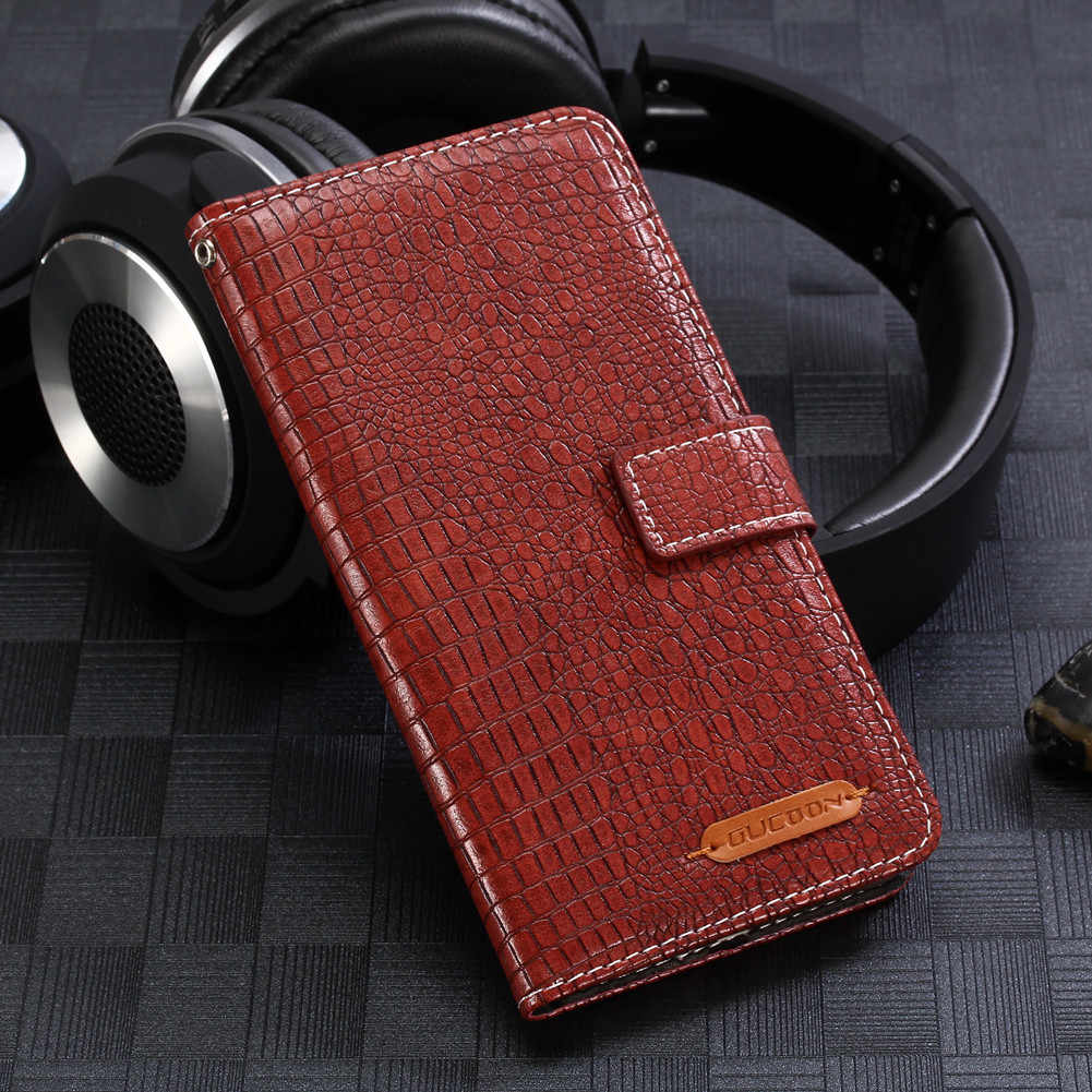 Gucoon Fashion Buaya Dompet untuk Micromax Canvas Xpress 4G Q413 Case Mewah PU Kulit Penutup Telepon Tas Tangan Yang Berkualitas dompet