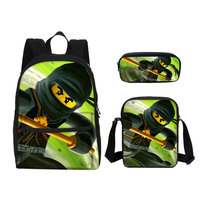 Lego 16 Inch Children School Bags for Kids Printing Cartoon Laptop Backpacks Pen 3D Bag Characters Ninjago Boys Shoulder Bgas