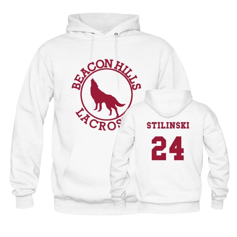 gran descuento 33f74 527ab € 32.37 20% de DESCUENTO|Beacon Hills Lacrosse Stilinski 24 sudaderas con  capucha sudadera para hombre/mujer la escuela Jersey de invierno/primavera  ...