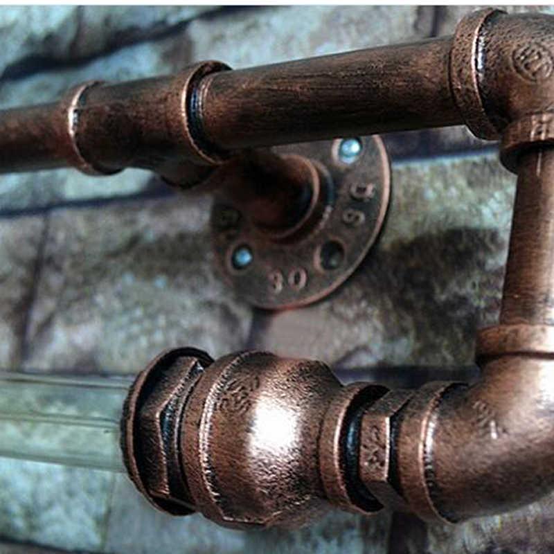 Винтажный Ретро навес, настенные фонари водопровод Фон Бар Кафе Ресторан Проходная лестница коридор гостиная Пивной клуб настенные бра бюстгальтер
