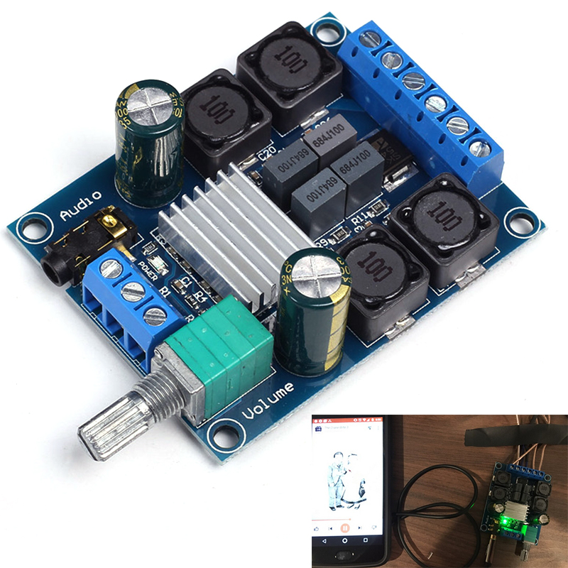 2x50W TPA3116D2 Digital Power Amplifier Board Dual Channel Stereo Amplifier Module DC 4.5-27V