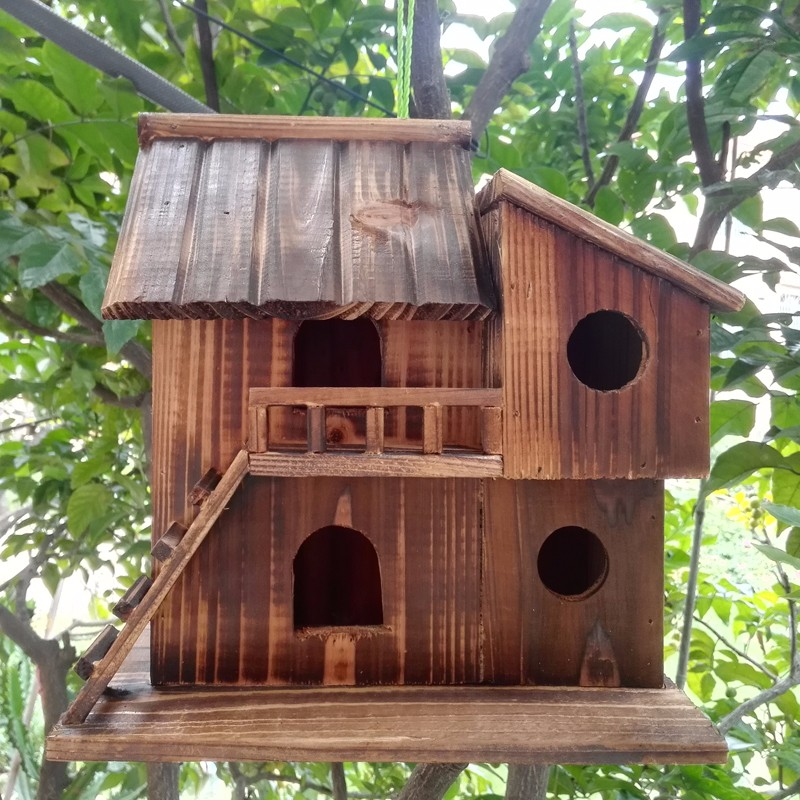 25 25 16 cm wood preservative outdoor birds nest wood - Decorating with bird houses ...