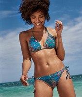 SAKKUS 2019 Sexy Swimwear Women Push Up Bikini Set Bandage Summer Bathing Suit Print Brazilian Micro Swimsuits Female Biquini