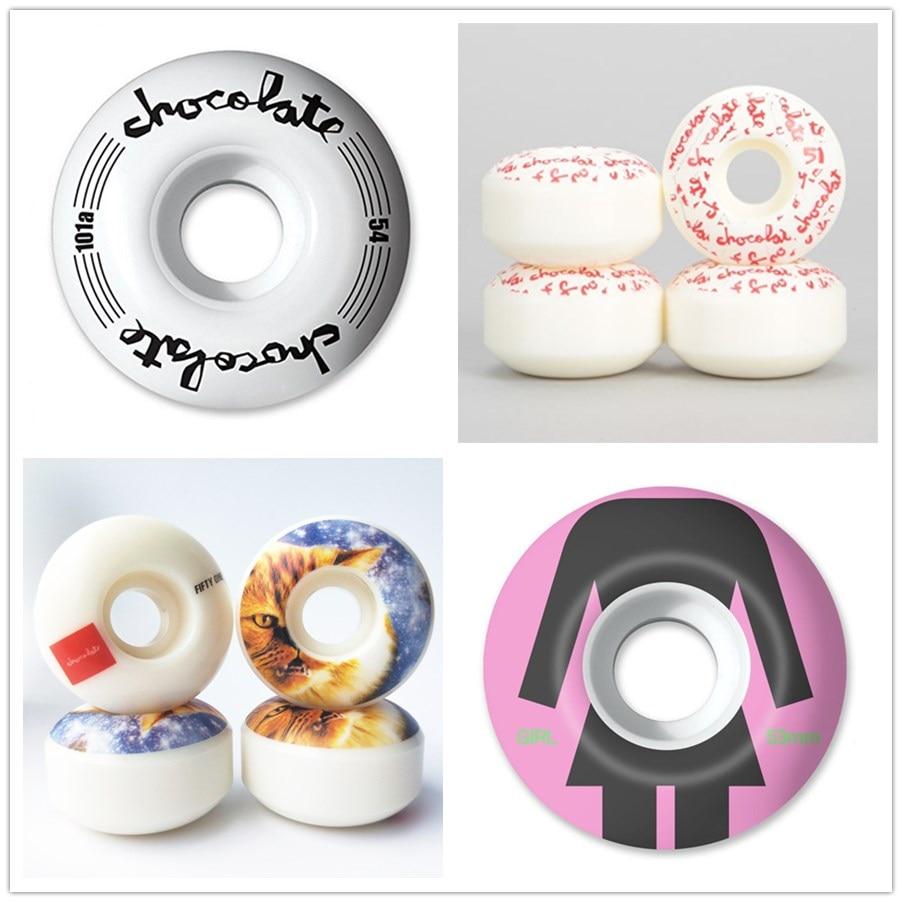 USA BRAND PRO Hot Style Head Graphics Wheels High-Density PU White Durable Aggressive Skateboard Wheels 51-56mm Rodas Skate