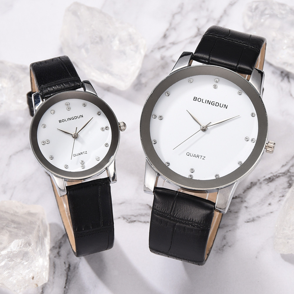 Bolingdun Men And Women Watch Belt High-End Business Quartz Lovers Watches Couples Watch Man And Ladies Wristwatches