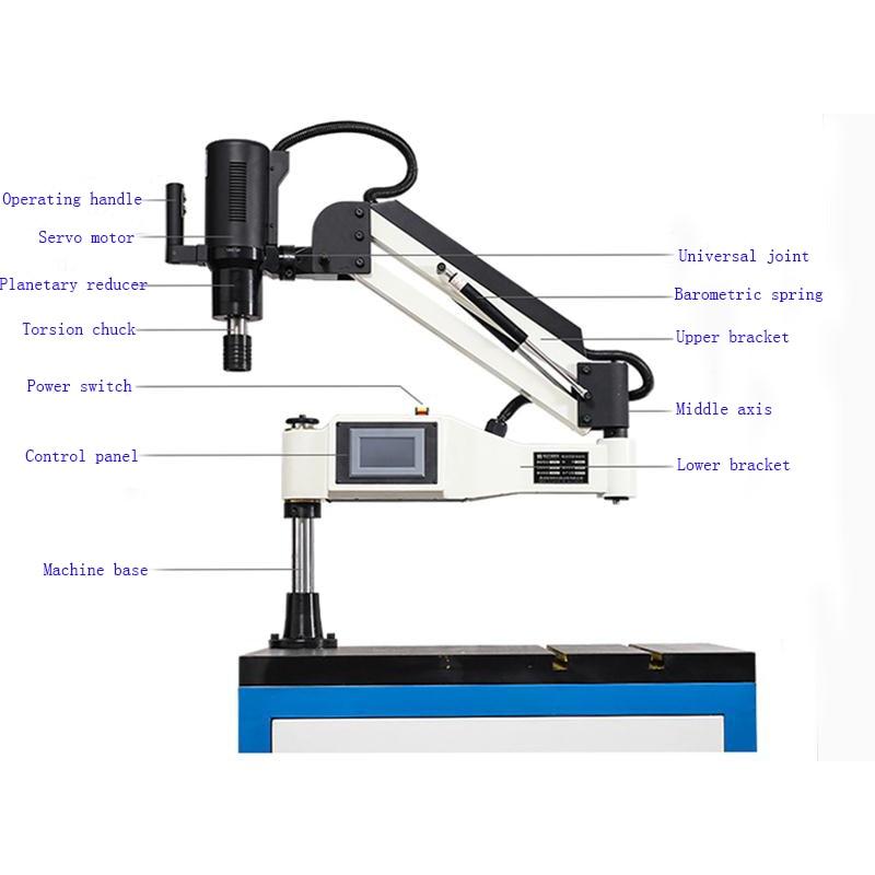 Free Shipping CE 220V M3-M16 Universal Type Electric Tapping Machine Electric Tapper Machine-working Taps Threading Machine