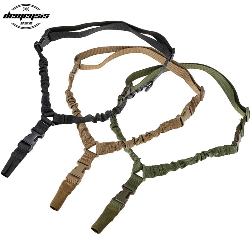 Verstelbare Nylon multifunctionele One Point Tactical Rifle Sling Jachtgeweer Strap Outdoor Airsoft System Kit