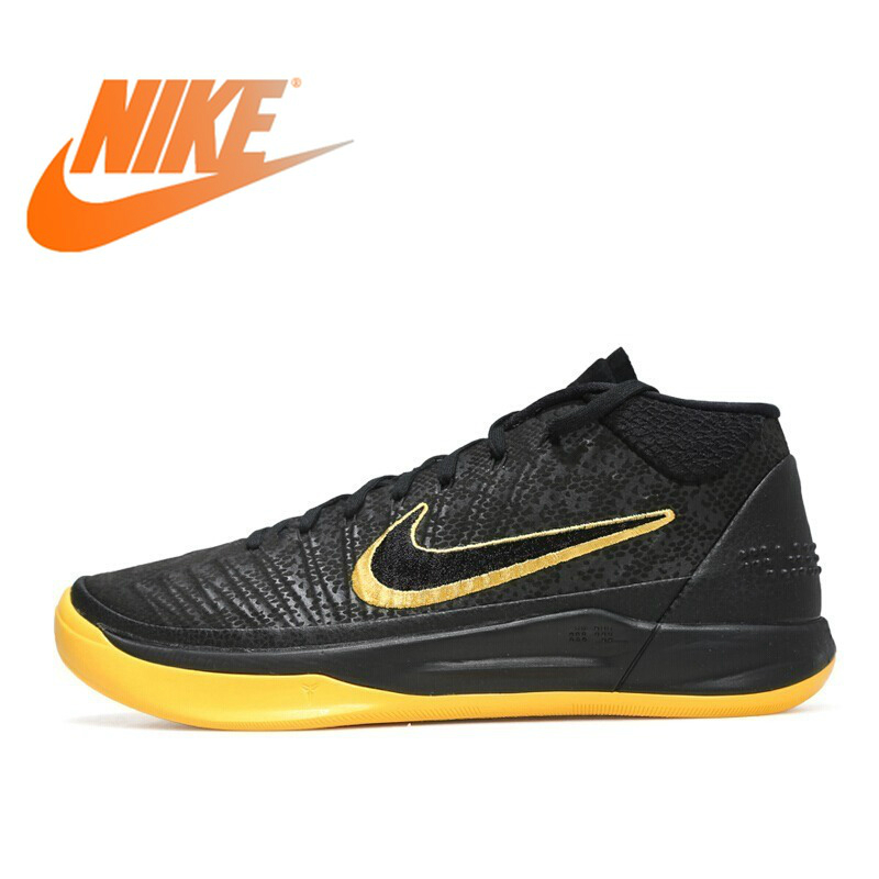 Original 2018 NIKE Mens Basketball Shoes KOBE Breathable Lace-up Outdoor Sports Shoes Comfortable Sneakers Durable AQ5163Original 2018 NIKE Mens Basketball Shoes KOBE Breathable Lace-up Outdoor Sports Shoes Comfortable Sneakers Durable AQ5163