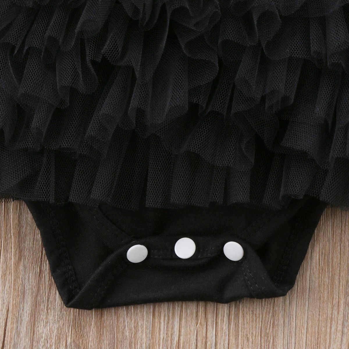 2018 для новорожденных и маленьких девочек, комбинезон, боди, комплект одежды с повязкой на голову; модные летние Черные милые featureas CH