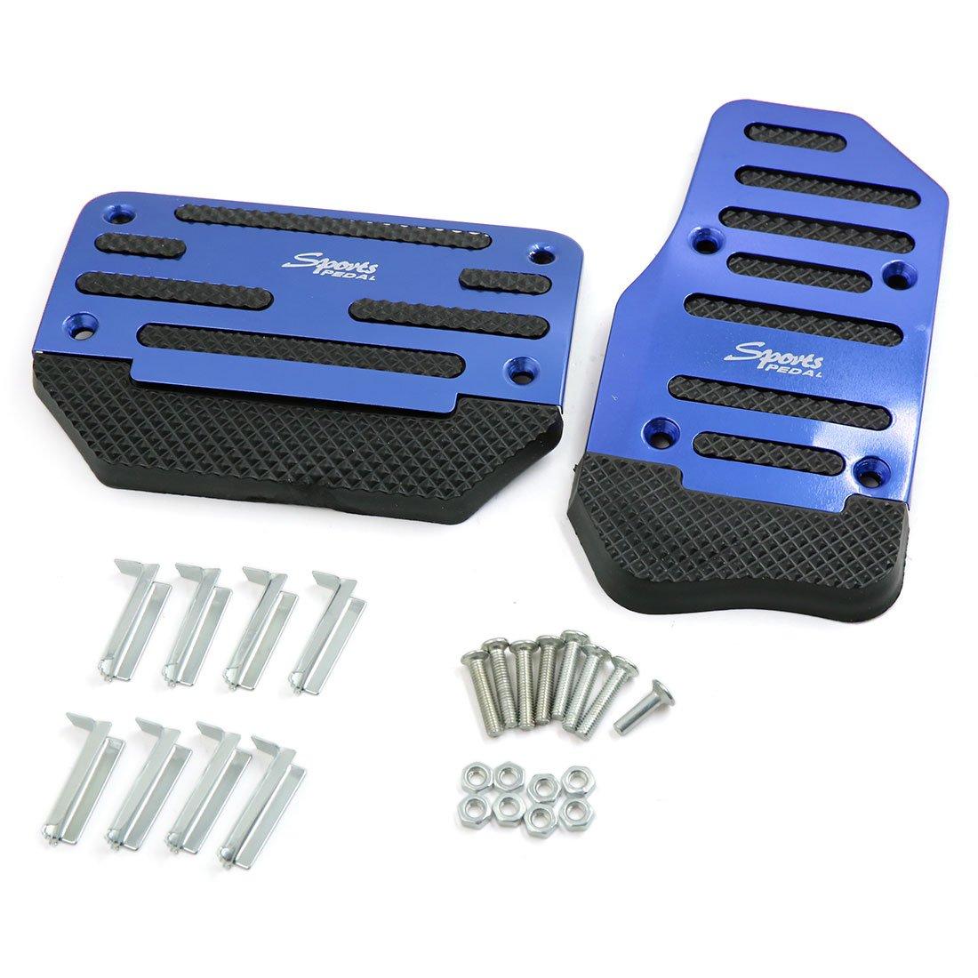 Coscienzioso Uxcell 2 In 1 Blu Auto Cambio Manuale Auto Acceleratore Frizione Pedale Del Freno Pedale Pad Con Metodi Tradizionali