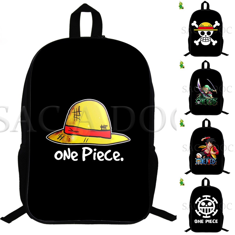 Anime One Piece D.luffy Backpack Boys Girl's Backpack Mochila School Bags For Teens 14.5 Inch Customize Backpack Travel Bags