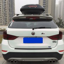 MONTFORD Car Styling ABS Plastic Primer Color Exterior Rear Trunk Wing Spoiler Decoration For BMW X1 2011 2012 2013 2014 2015