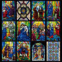 Индивидуальный размер, европейская церковная художественная стеклянная пленка, витражное окно, непрозрачная наклейка, самоклеящаяся стат...