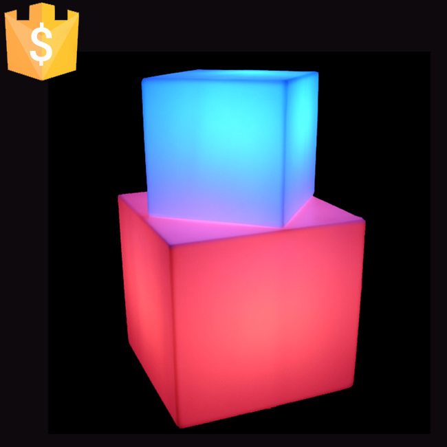 LED Colorful Changing Mood Cubes Night Glow Lamp Light  Home Decor Romantic Lighting 13x13x13cm 16 Colors Changing Cubes 50pcs colorful waterdrop cartoon ombre led night light
