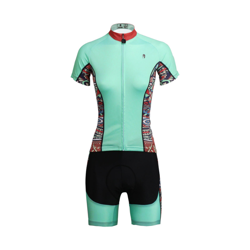 Cycling Jersey WomenMint GreenShort Sleeve Cycling Clothing Women Cycling Jersey Cycling Sets X650