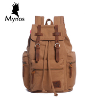 New Arrival High Quality Canvas Leisure Backpack Men Vintage Laptop Travel Large Capacity Notebook Multifunction Backpack