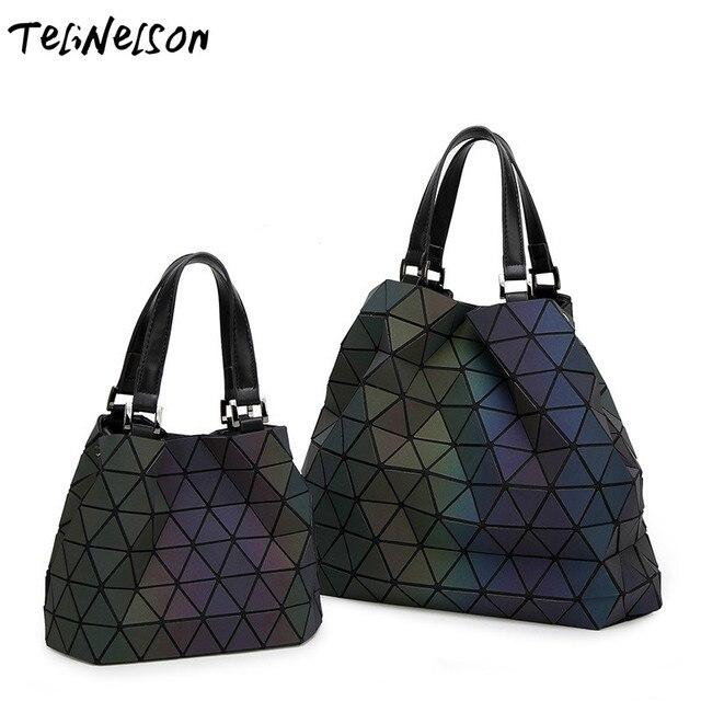 Connu Women's Handbags Briefcase Geometry Sequins Mirror Laser Plain  DL98