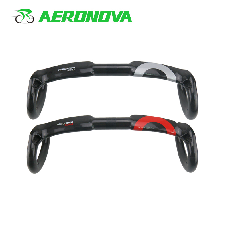 AERONOVA Bicycle Handlebar Road Bike 4 Holes Internal Winding Carbon Handlebars 31.8*400/420/440 UD Carbon Road HandlebarAERONOVA Bicycle Handlebar Road Bike 4 Holes Internal Winding Carbon Handlebars 31.8*400/420/440 UD Carbon Road Handlebar