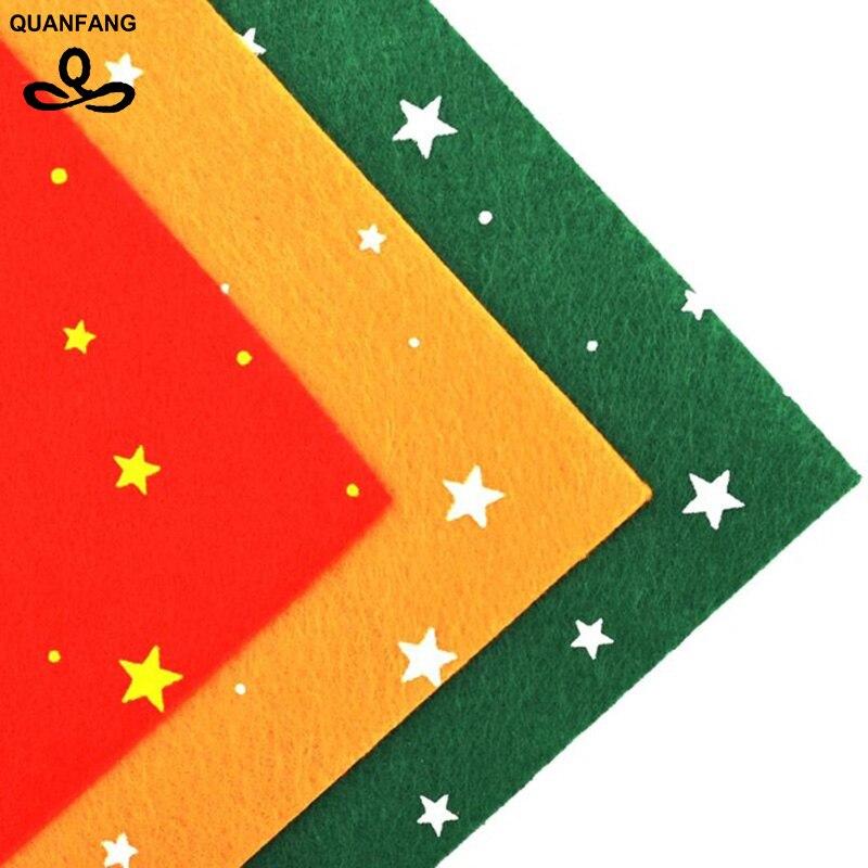 Nerezová tkanina 1mm Tloušťka Polyester Plstěná Třešeň Tvarovaná Scrapbooking Vzorník Pro Šití Dollů Řemesla 3ks Hvězdy30x30cm