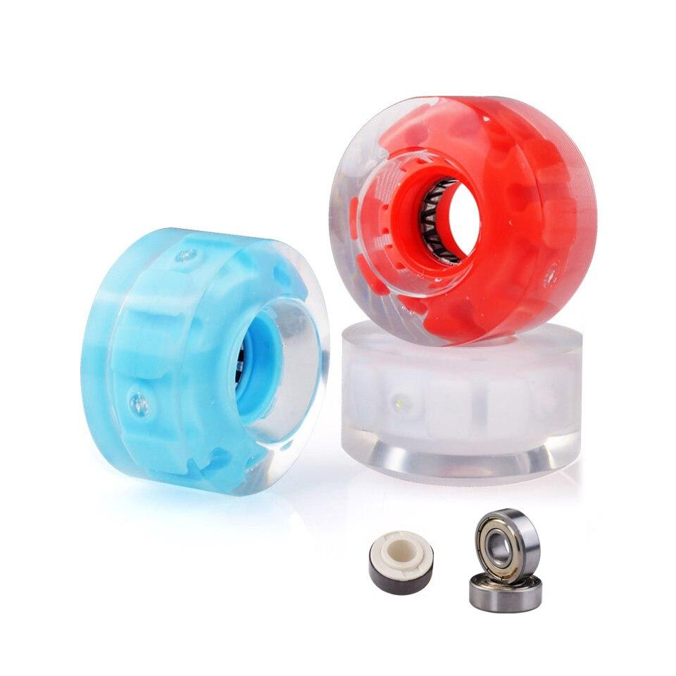 JK Original Led clignotant PU patins roues 82A 32*58mm doubles roues de patins à roulettes avec roulements noyau magnétique rouleau rond PJ17