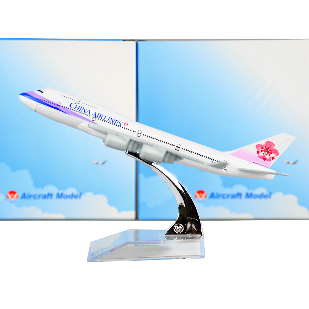 TaiWan China Airlines Boeing 747 16cm Airplane Child Birthday Gift Plane Models Toys Free Shipwping Christmas gift ...