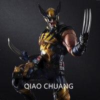 Wolverine Play Arts Kai X Men Logan PVC Action Figure Collectible Model Toy 26CM Creative Exquisite