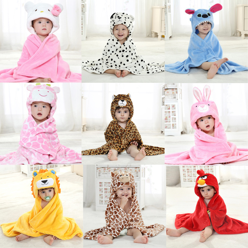 Baby Bathrobe Hooded Animal Modeling Cloak 10 Styles Cartoon Baby Towel Character Kids Bath Robe Infant Cotton Bath <font><b>Blanket</b></font> Warm