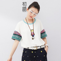 Toyouth Summer New Arrival Women T Shirts Batwing Sleeve Cartoon Print Preppy Style Tees Lady O