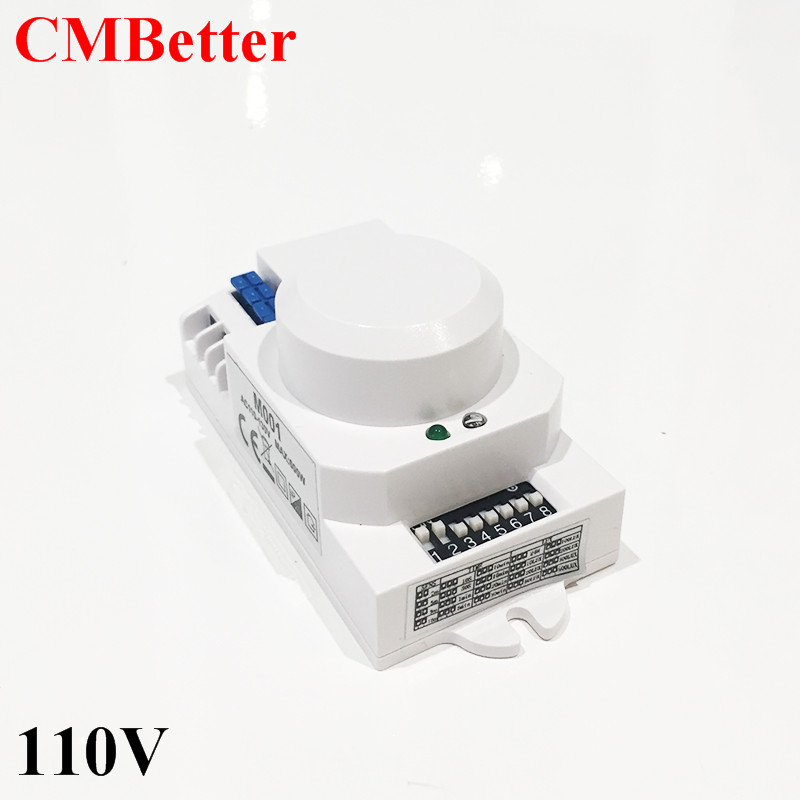New 110v 5.8GHz HF Systerm LED Microwave 360 Degree Radar Sensor Light Switch Ceiling light Occupancy Body Motion Detector CM026 freeshipping 5 8ghz hf systerm led microwave 360 degree radar sensor light switch ceiling light occupancy body motion detector