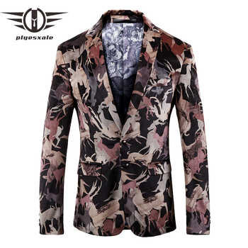 Plyesxale Men Blazer 2018 New Fashion Prom Blazers For Men High Quality Autumn Mens Blazers Casual Suit Jacket Two Button Q153 - DISCOUNT ITEM  39% OFF All Category
