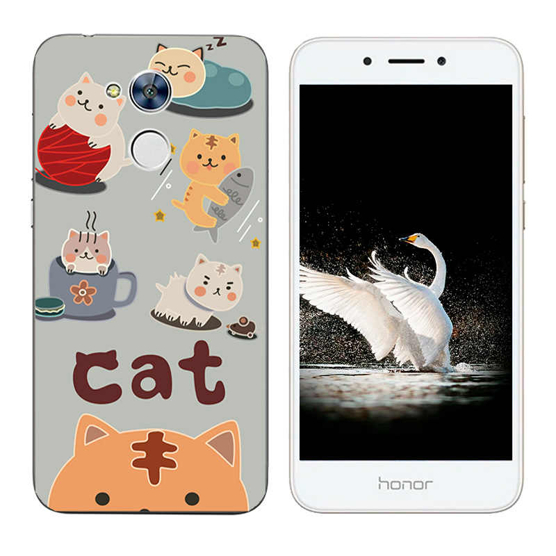Для Huawei Honor 6a Мягкий Силиконовый ТПУ задняя крышка для Huaiwei Honor6A телефонные чехлы 5,5 ''оболочка кошка принт «Пейзаж» Fundas Coque