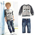 Toddler Boy Clothes 2016 Autumn Baby Boy Clothes Set 2Pcs Clothing Set Spring Children Sports Suit 4 6 Years T-shirt+Jeans