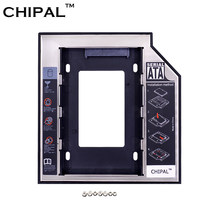 Caja de plástico de aluminio CHIPAL optbay 2nd HDD 9,5mm SATA 3,0 para 2,5 pulgadas SSD DVD CD-ROM adaptador duro disco caso(China)