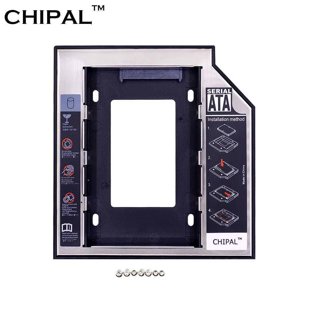 CHIPAL aluminium plastique Optibay 2nd HDD Caddy 9.5mm SATA 3.0 pour 2.5 pouces SSD DVD cd-rom boîtier adaptateur boîtier de disque dur