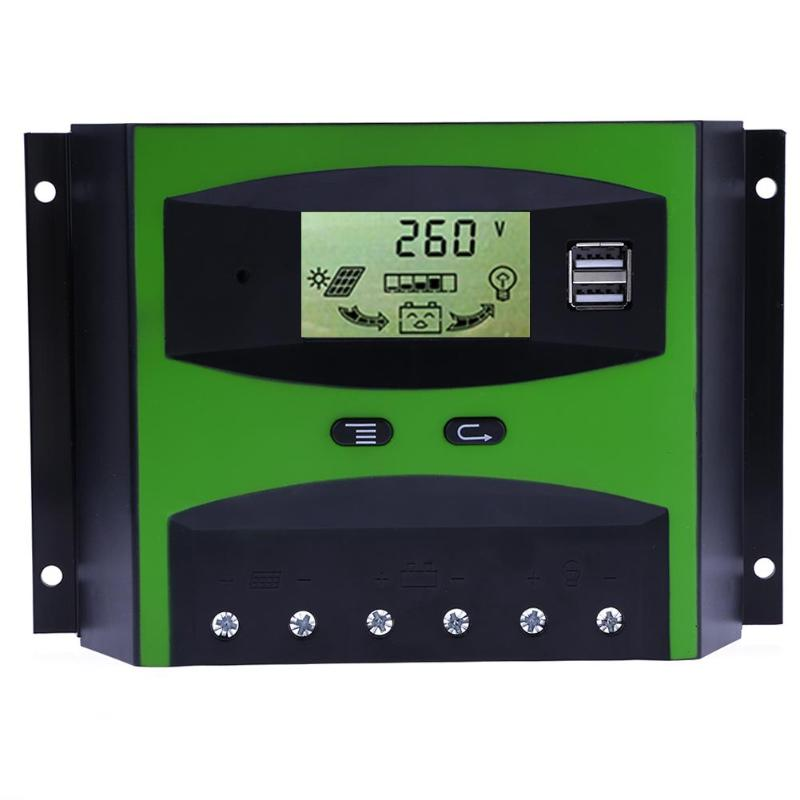 50A Current 12V/24V LCD Display PWM Solar Panel Adjustable Charge Discharge  Controller Regulator Automatic Temperature E5M150A Current 12V/24V LCD Display PWM Solar Panel Adjustable Charge Discharge  Controller Regulator Automatic Temperature E5M1