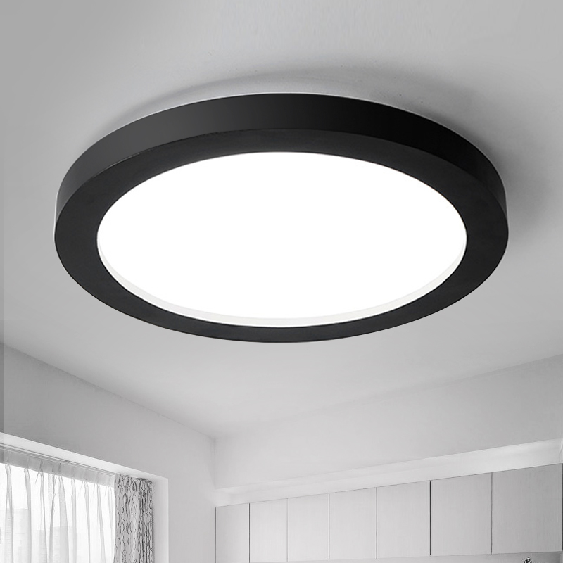 ФОТО Simple modern round metal led ceiling lamp nordic home lighting living room  bed room lamp study room light free shipping