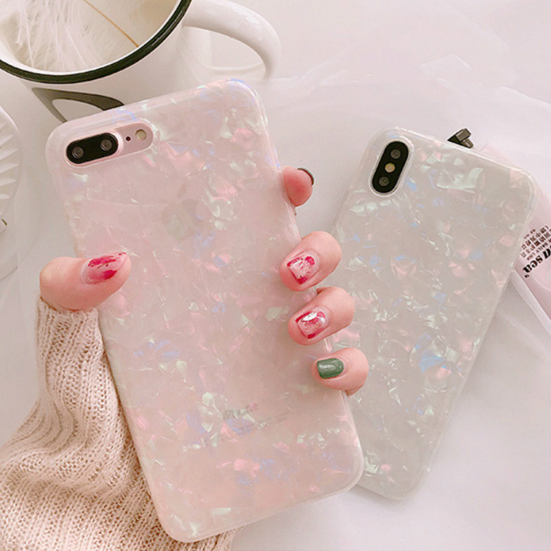 Candy Color Conch Shell Phone Iphone 8 Apple Iphone X 6 6S 7 8 Plus Back Cover Cases Soft Funny Coque