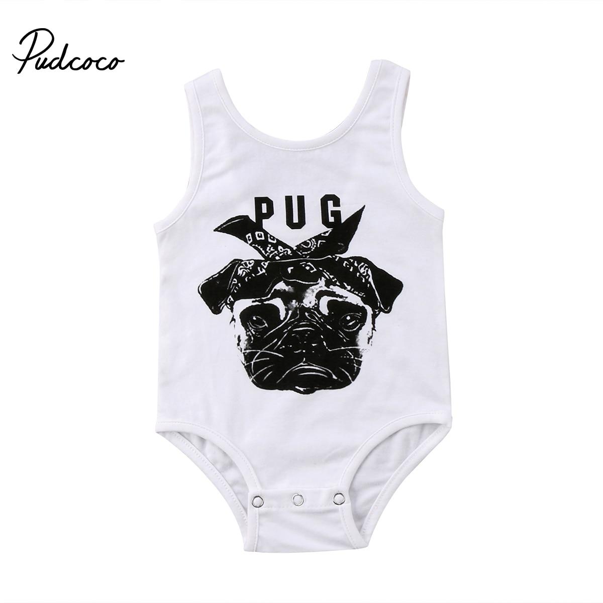 Новорожденных Для маленьких мальчиков комбинезон для девочек животного Модные принты Летние Боди женский пляжный костюм для 0-24 м