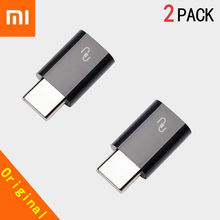 Original Xiaomi USB Type C 2pcs Adapter Micro USB Female to USB 3.1 Typec Type C Male Cable Converter Quick Charger Connector цена 2017
