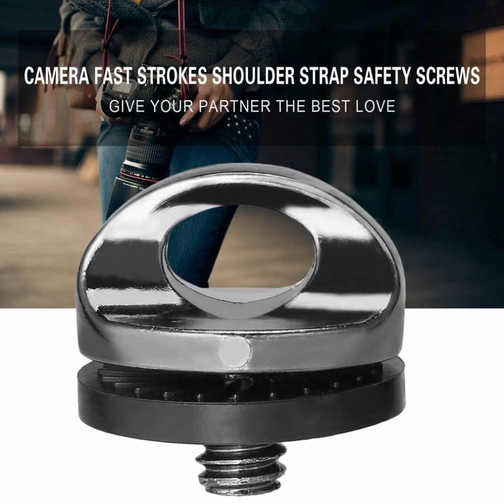 """W magazynie! Nowy 1/4 """"śruba dla lustrzanek DSLR camera pasek od aparatu statyw Quick Release płyta do montażu na najnowszy hurtownia"""