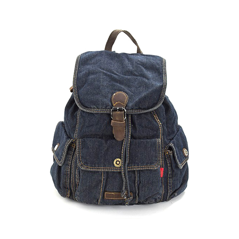 Fashion Women Backpack High Quality Youth Denim Backpacks Teenage Girls Female School Shoulder Bag College Wind